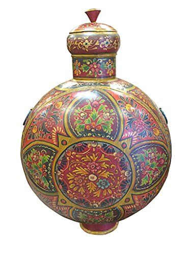 Decorative Urns With Lids Indian Vase Floral Decorative Hand Painted Urn With Lid  Home