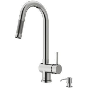 Vigo Gramercy Single Handle Pull Down Sprayer Kitchen Faucet In