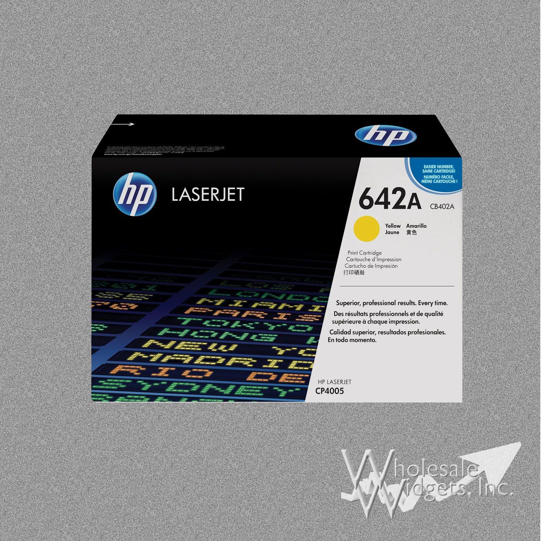 GENUINE HP CB402A 642A Yellow Toner Cartridge LaserJet CP4005 NEW OEM