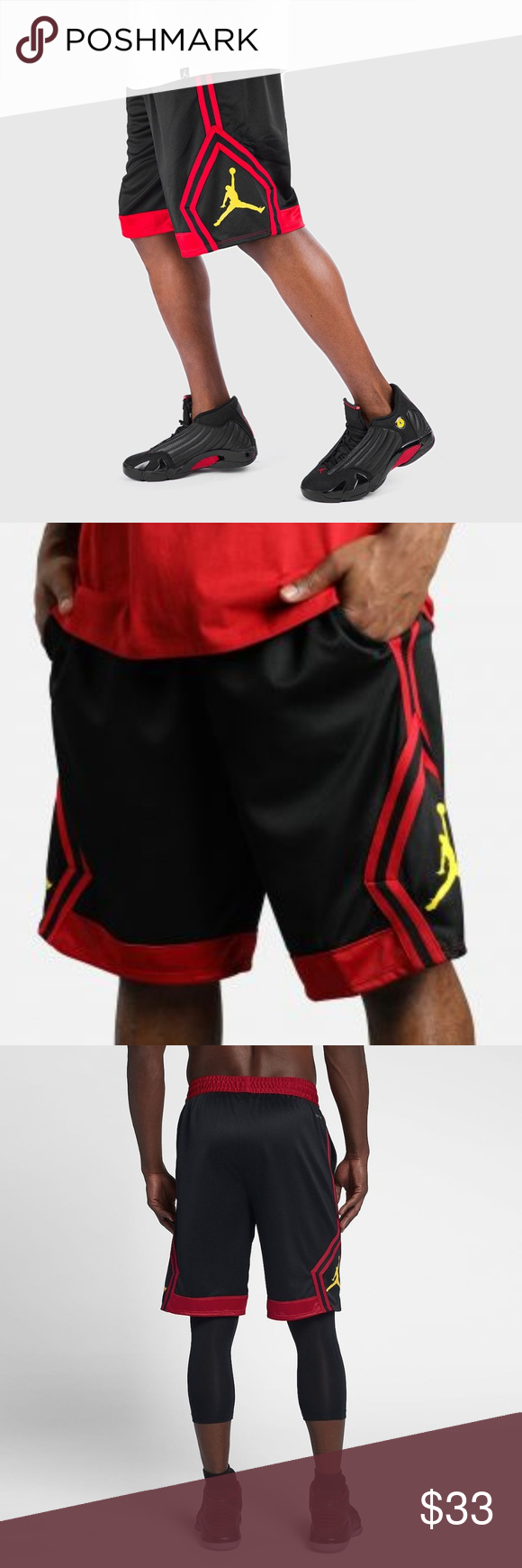 aa696f8919222d Nike Air Jordan Diamond Last Shot Basketball Short Nike Air Jordan Rise  Diamond Last Shot Basketball Shorts 887438 015 Lift your status and street  cred to ...
