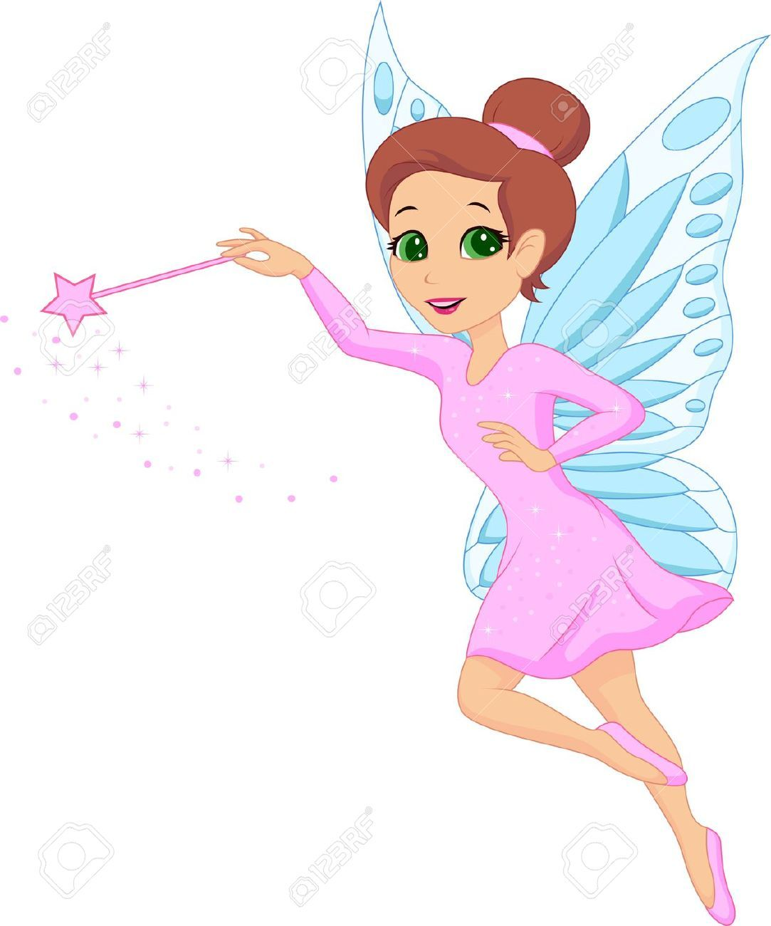 Fairy cartoon. Images stock pictures royalty