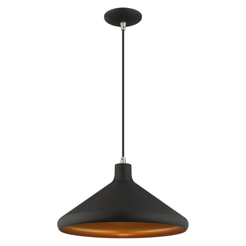 Oaklee 1 Light Single Cone Pendant Reviews Allmodern In 2020 Single Pendant Lighting Cone Pendant Pendant Lighting