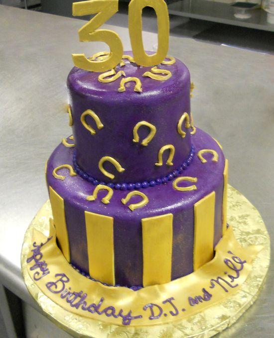 Specialty Cake18 Birthday Purple Gold Omega Psi Phi