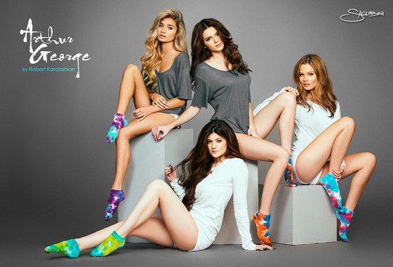 Kendall & Kylie Jenner Model Socks for Rob Kardashian's Arthur George—See the Pantsless Pics! on Kardashians | E! News Australia | Kylie jenner modeling, Kendall and kylie jenner, Kendall and kylie