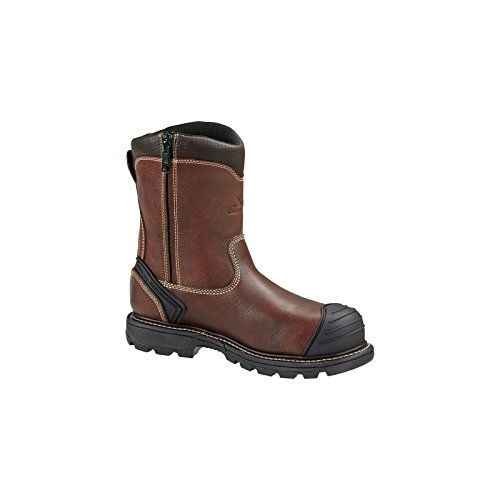 Mens Thorogood 8 inch Side  zip Composite Toe Wellington Work Boots Brown BROWN 115 2E ** Check out this great product.(This is an Amazon affiliate link and I receive a commission for the sales)