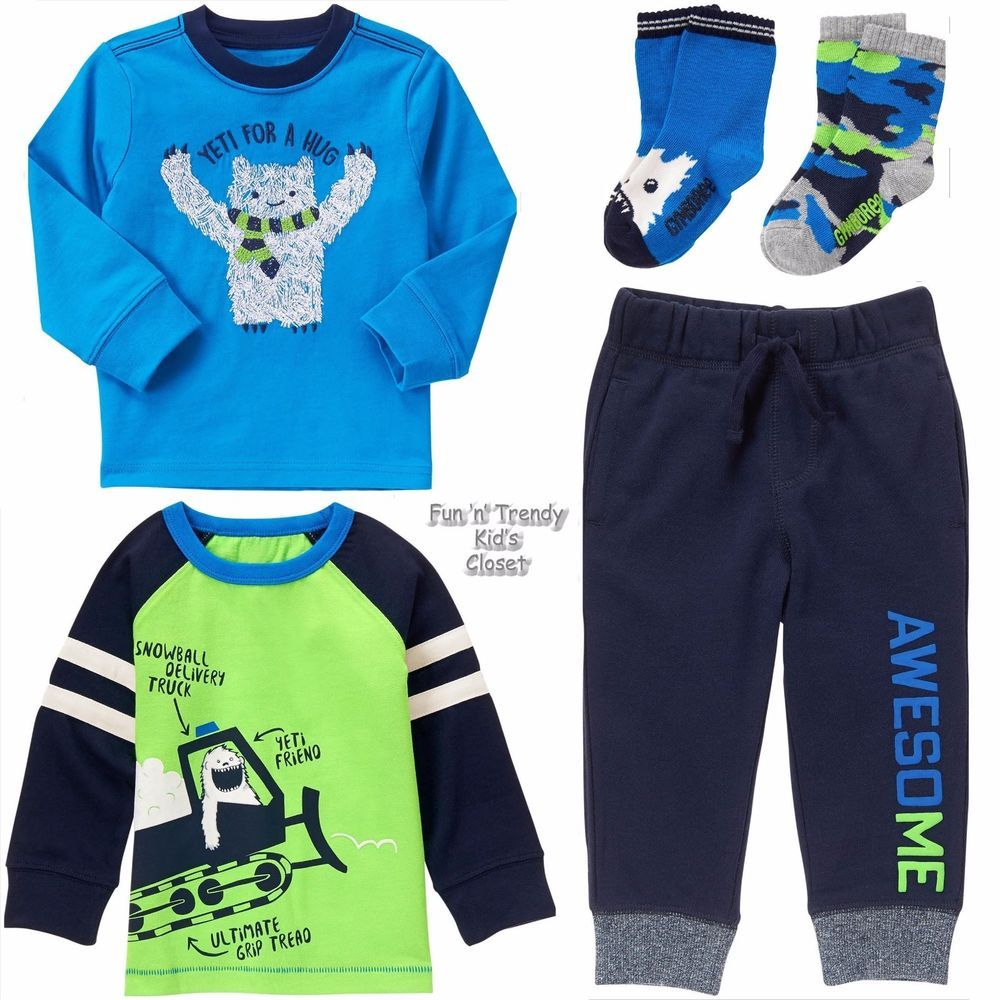 NWT GYMBOREE BOYS SIZE 3T Shirts And 2-Shorts
