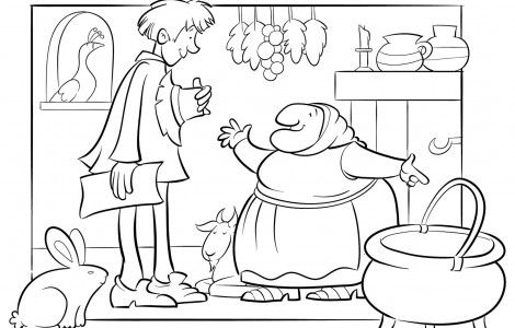 Strega nona coloring pages | schools | Pinterest | Coloring pages ...