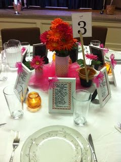 Table Decorations For Las Event At Church