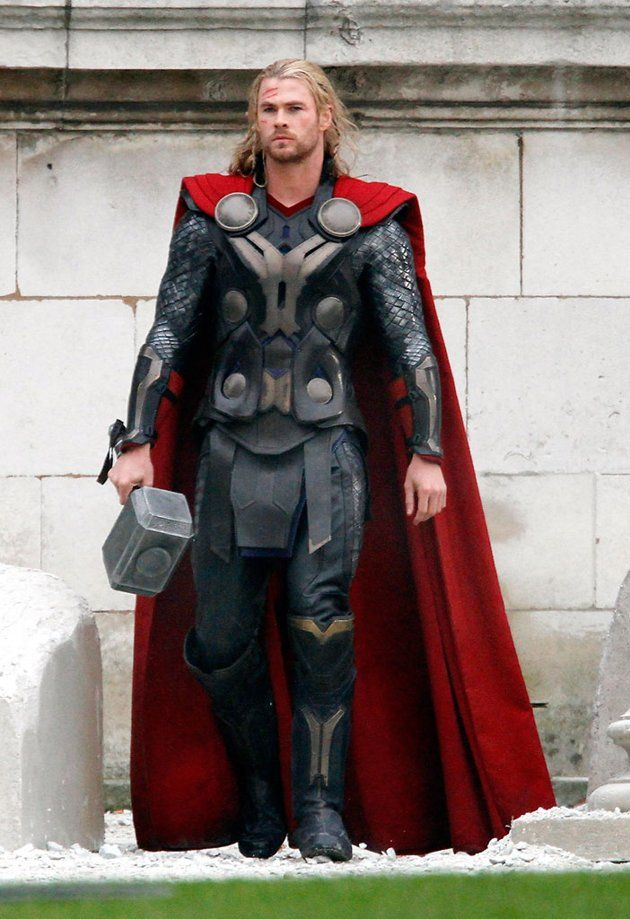 Chris Hemsworth sighted filming on the set of Thor 2, on November 16, 2012 in London, England.