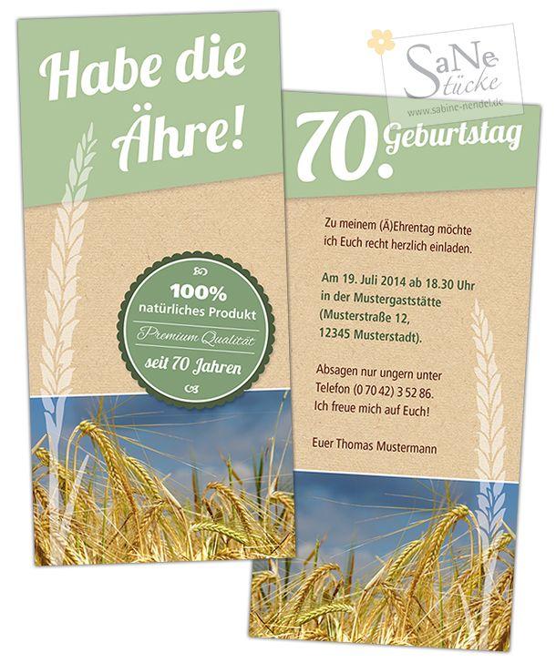 Einladung zum Geburtstag für alle Landwirte Müller Naturburschen