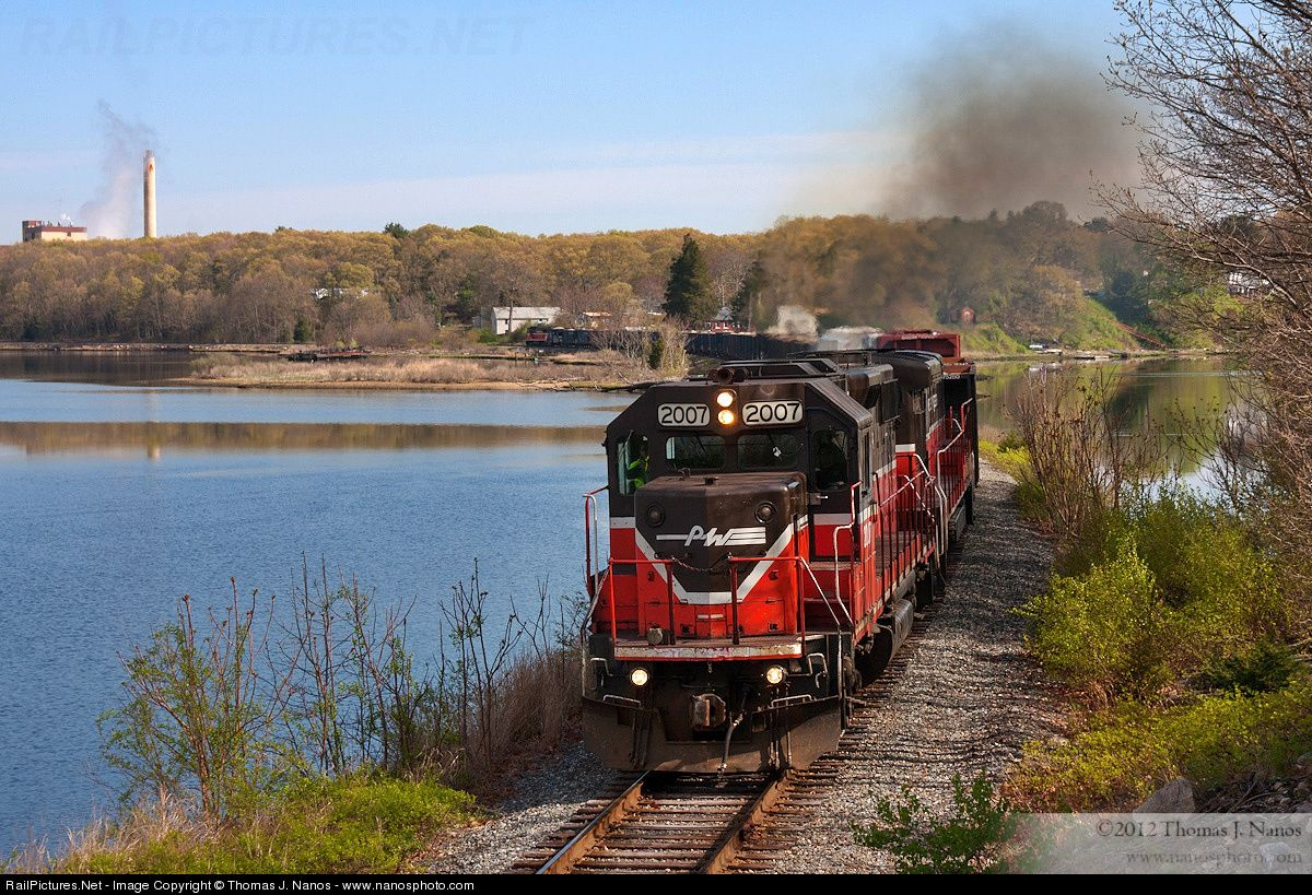 RailPictures.Net Photo: PW 2007 Providence and Worcester Railroad EMD GP38-2 at Ledyard, Connecticut by Thomas J. Nanos - www.nanosphoto.com