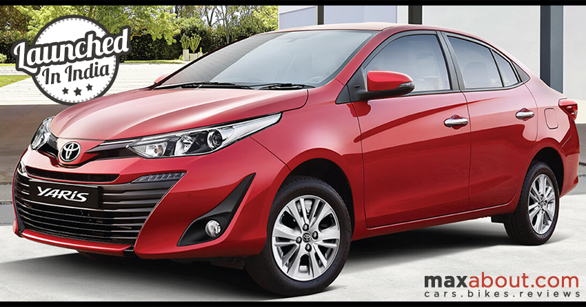Toyota Yaris Launched In India Starting Inr 8 75 Lakh Yaris Toyota Toyota Cars