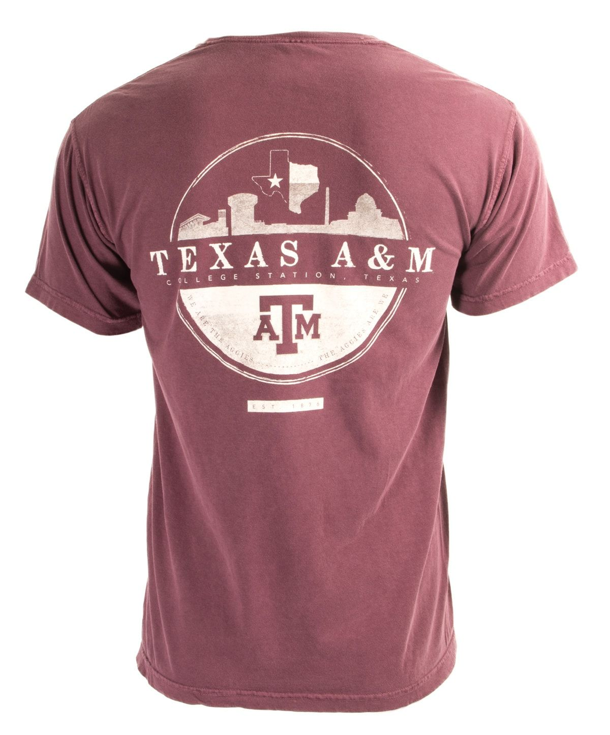 Texas A M Skyline Circle Design T Shirt College Shirt Design College Shirts College T Shirts