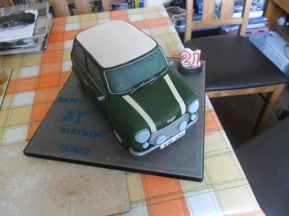 21st birthday Mini Cooper cake Mini Cooper Birthday Cake