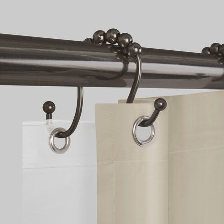 Better Homes And Gardens Never Rust Open Glide Shower Curtain Hooks Rings Walmart Com In 2020 Double Shower Curtain Shower Curtain Hooks Shower Curtain Rods