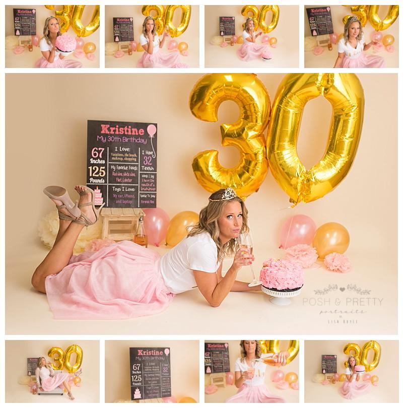 Woman Birthday Cake Smash Photo Shoot
