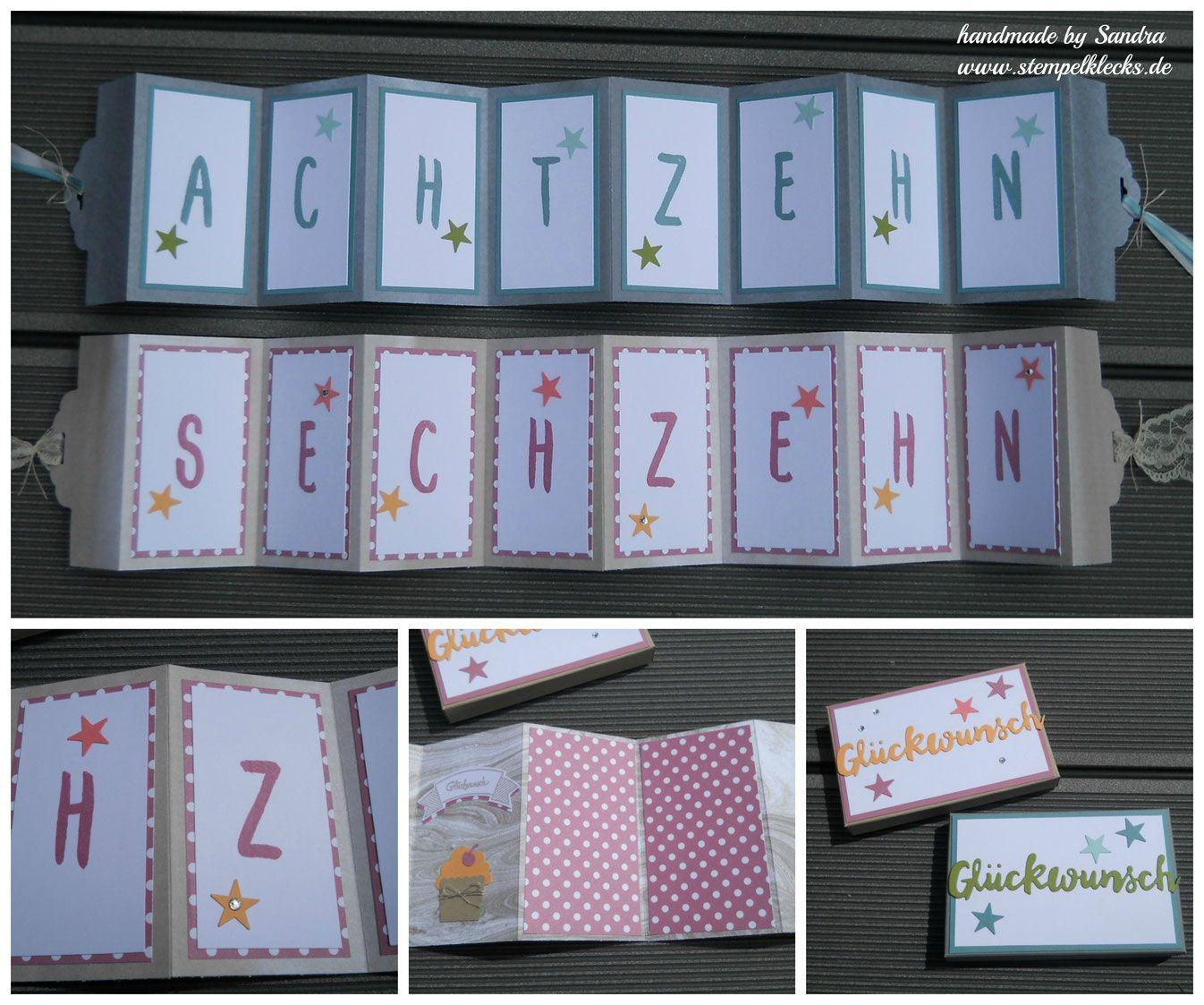 Einladungskarten 18 Geburtstag Selber Machen Karten: Pin Von Stempeltine Auf Zahlengeburtstage