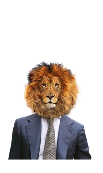 Testa umana e corpo di leone