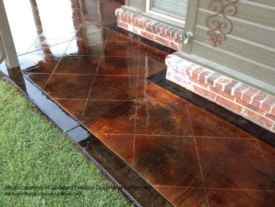 Concrete Flooring. Stained Concrete PorchConcrete PatiosBasement ...