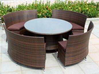 Gartenmöbel Aus Polyrattan Lounge Gartenmöbel Rund Tisch