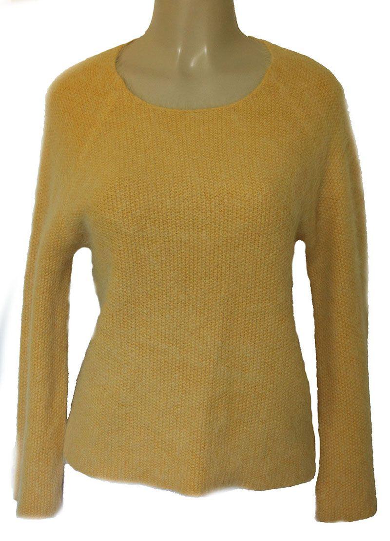 CLOVER CANYON Angora Sweater Sweatshirt Yellow | Women's Tops ...