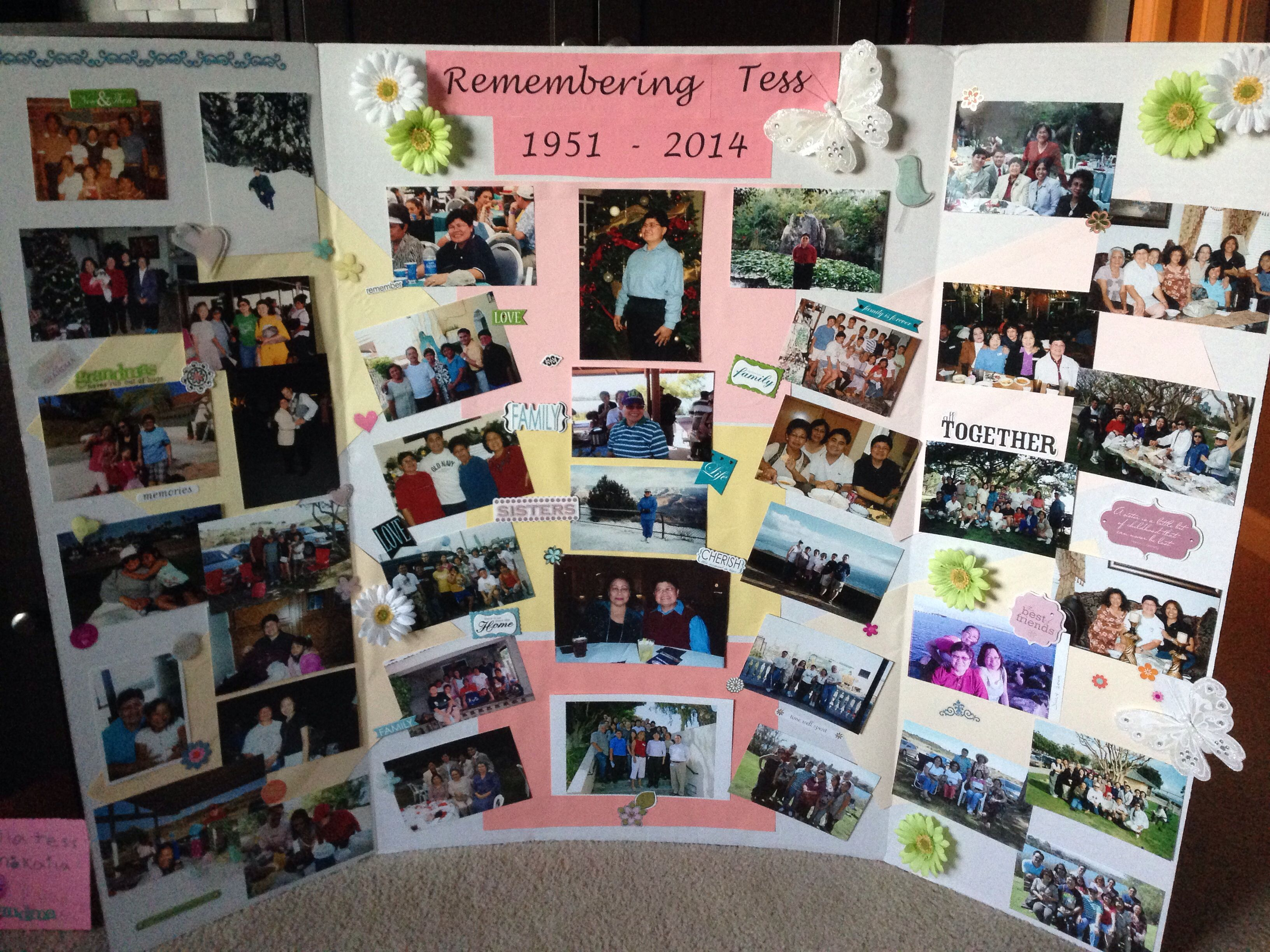 ideas for homemade picture collages - Pic collage for memorial service Funeral