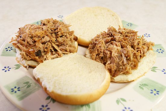 MOST AMAZING PULLED PORK EVER!  Recipe is from Kevin and Amanda's.   This is my go to pork.  I cook it in the crock pot and I've had Southern pig farmers tell me it's the best pulled pork they've ever had.  After it's pulled, I mix in lots of Bullseye Original BBQ sauce and Bullseye Texas Style BBQ sauce.  The Texas style is spicier and gives it a nice subtle kick on the back end.