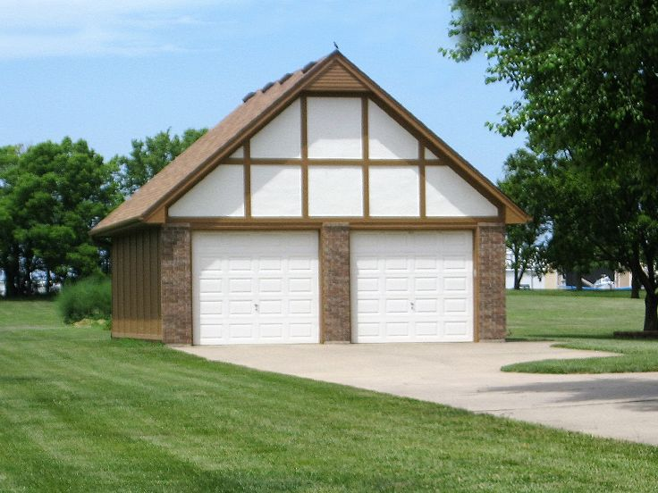 009G0006 TudorStyle 2Car Garage Plan Garage