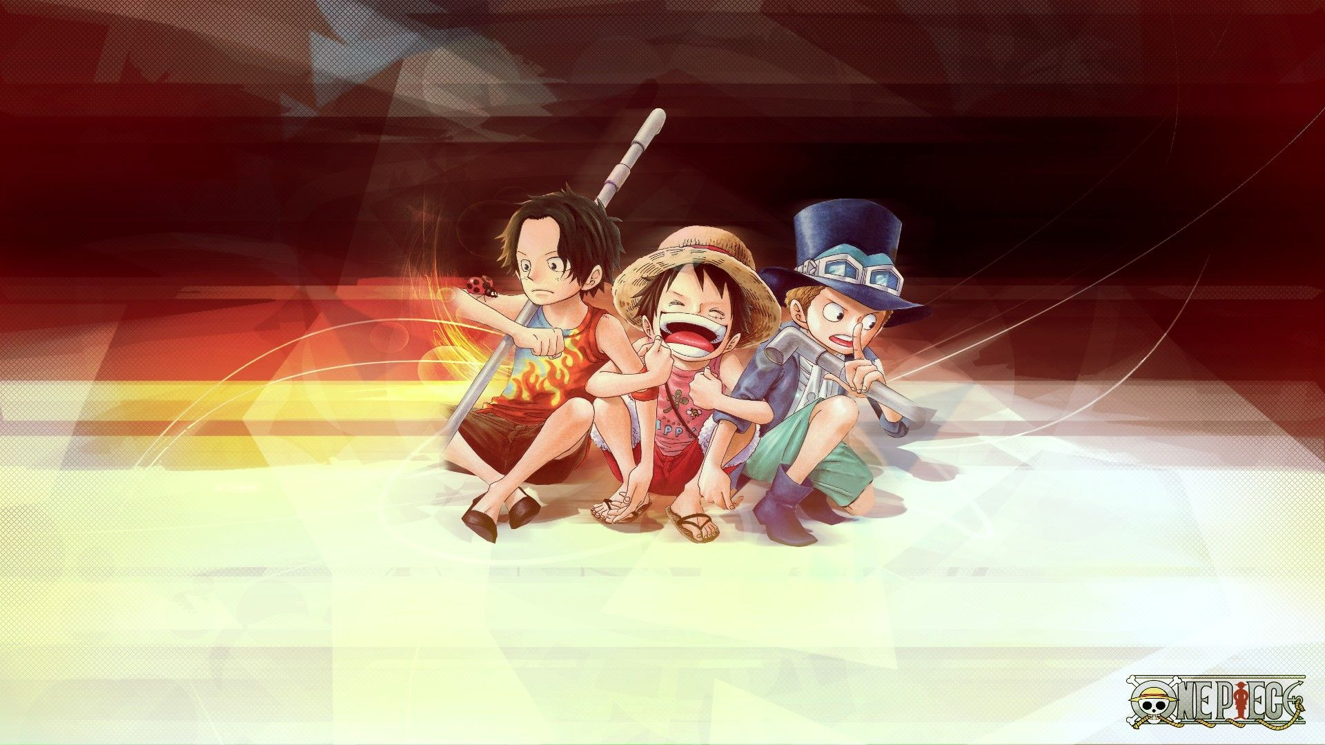 ace, sabo and luffy on one piece anime wallpaper | one piece
