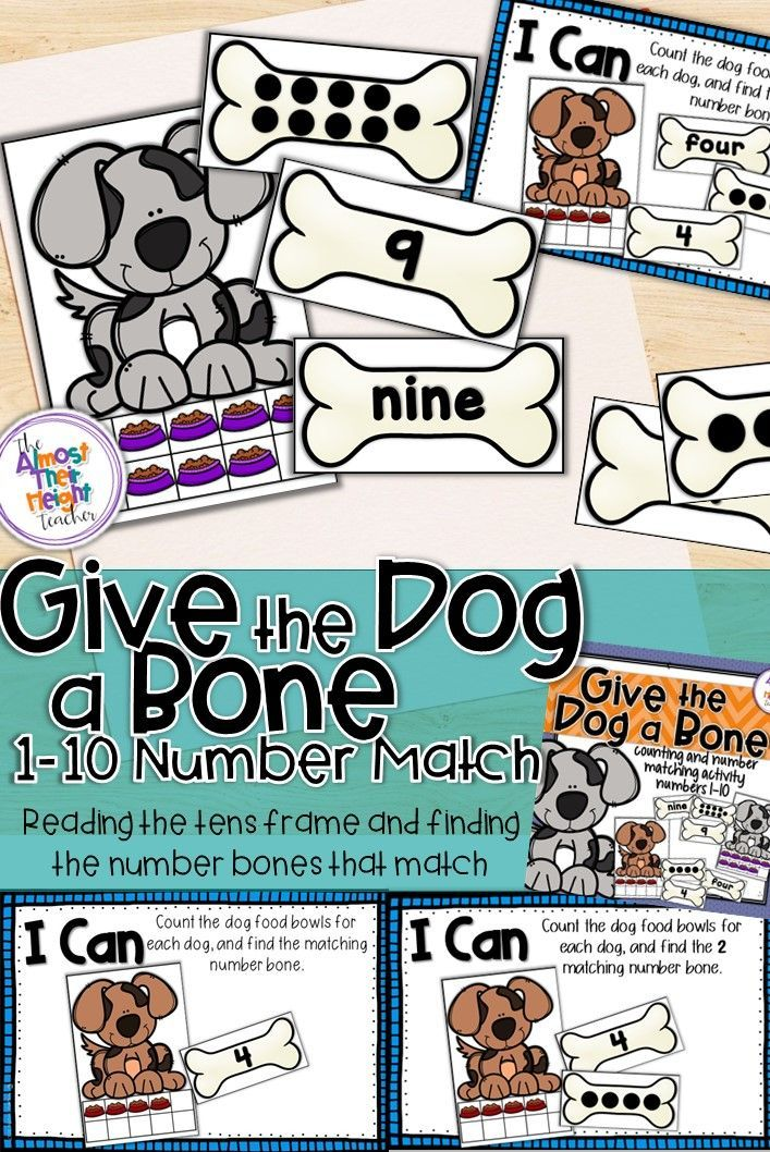 Number Matching For Numbers 1 10 Tens Frame Words Numbers And