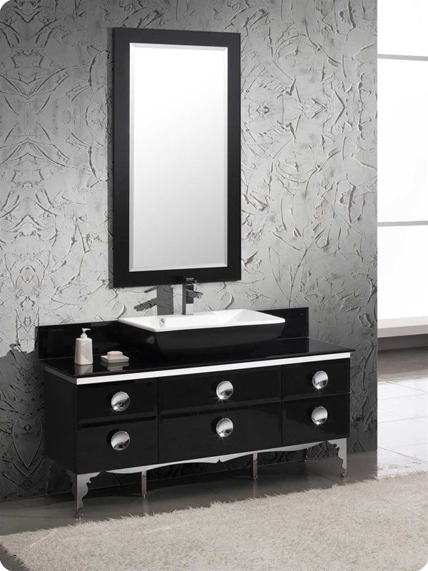 Moselle 59 Modern Glass Bathroom Vanity With Mirror Http Www