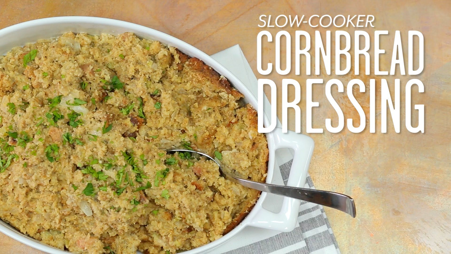 How to make slow cooker cornbread dressing southern living how to make slow cooker cornbread dressing southern living forumfinder Gallery