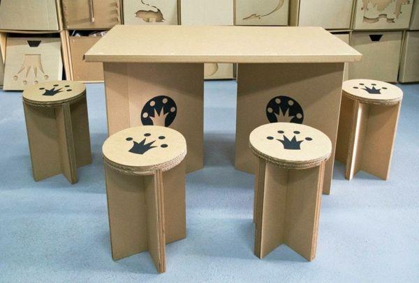 papierm bel zum selbermachen kartonm bel pinterest pappe karton und m bel aus pappe. Black Bedroom Furniture Sets. Home Design Ideas