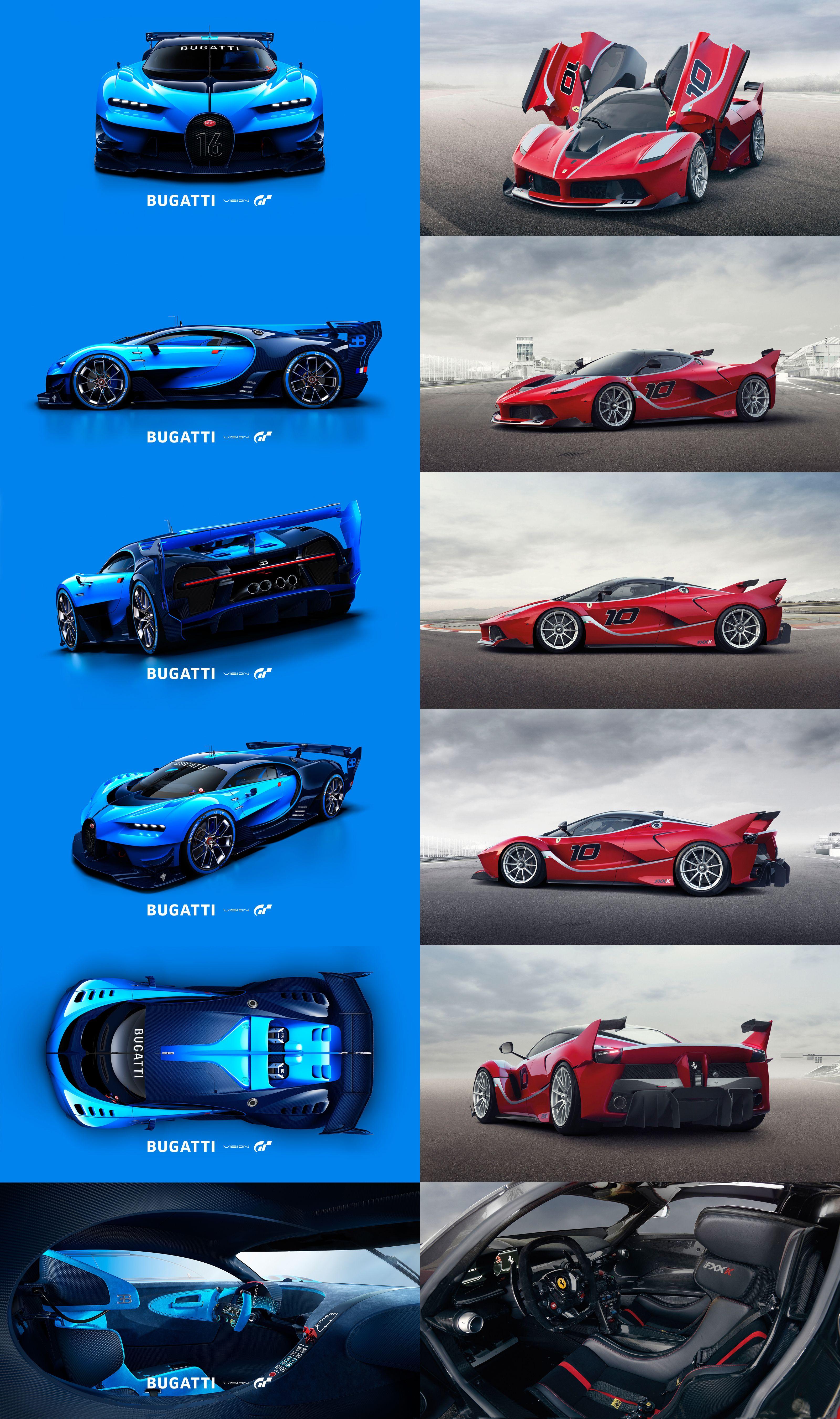 Bugatti Vision Gran Turismo Vs Ferrari Fxx K Bugatti Ferrari