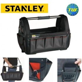 "Stanley FatMax 18/"" Open Mouth Tote Bag with Waterproof Plastic Bottom 1-93-951"