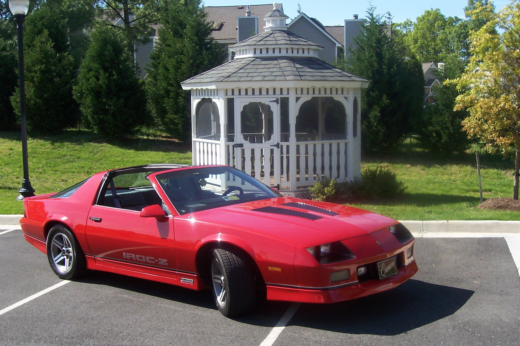 small resolution of  85 chevy camaro iroc z with black wheels and tinted windows