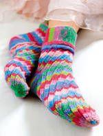 Socken Meerjungfrau, Anleitung aus The Knitter