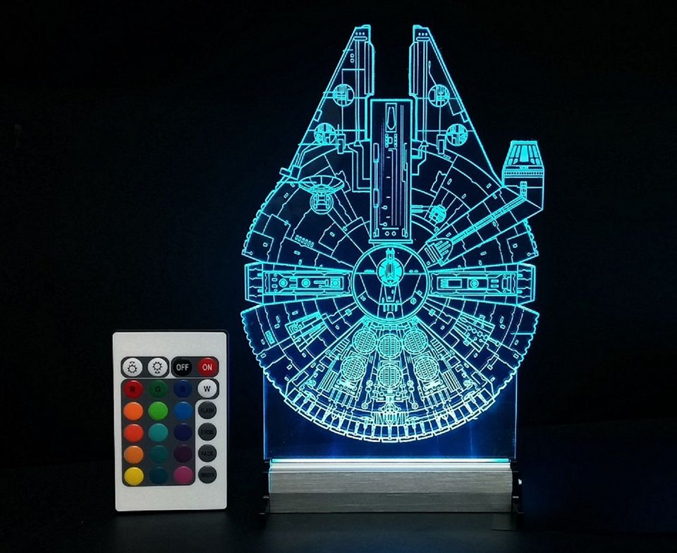 Millennium Falcon At At Lamps Star Wars Gadgets Star Wars Office Decor Multi Color Led