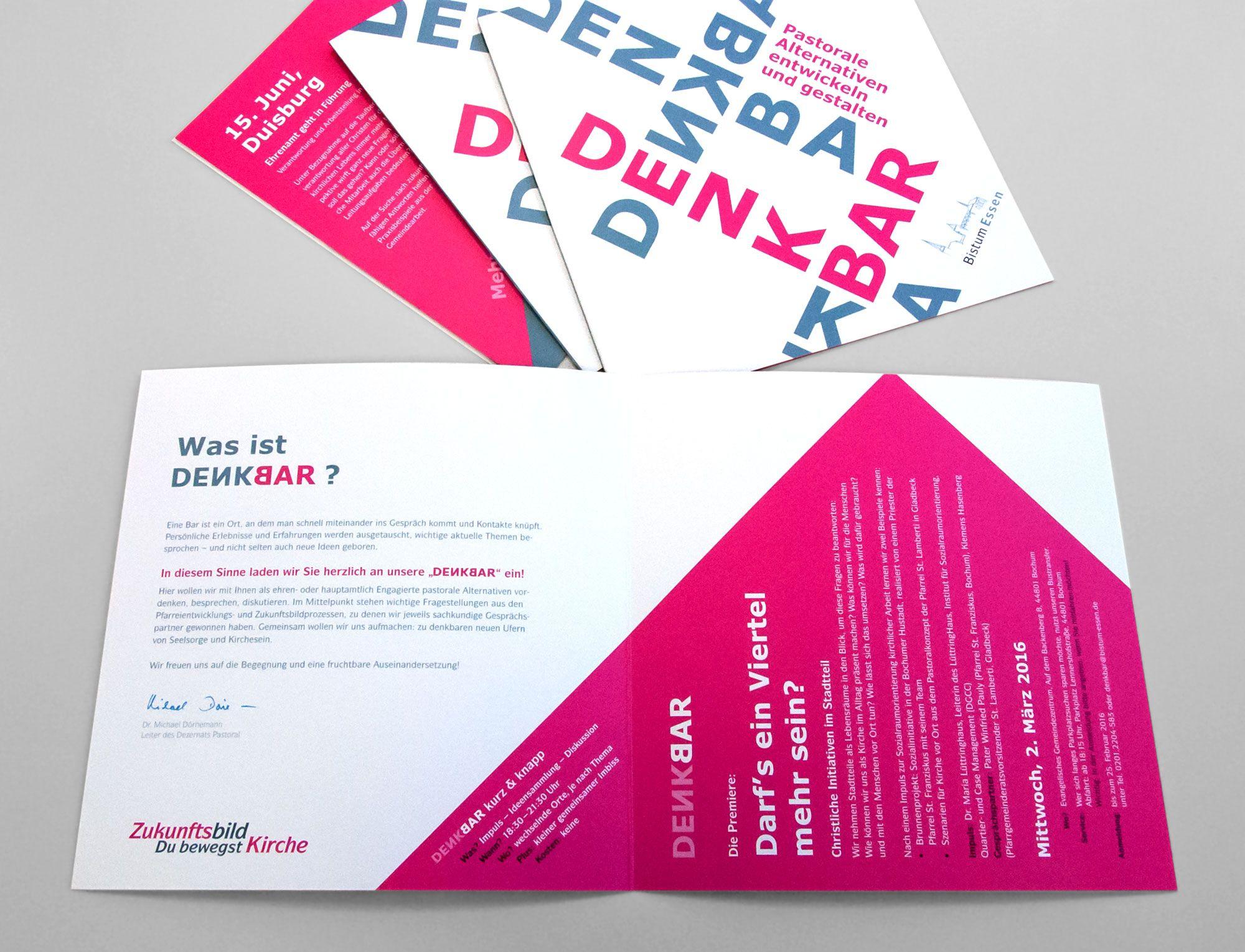 Einladung DENKBAR Innenseite | Layout-Design | Pinterest | Layout design