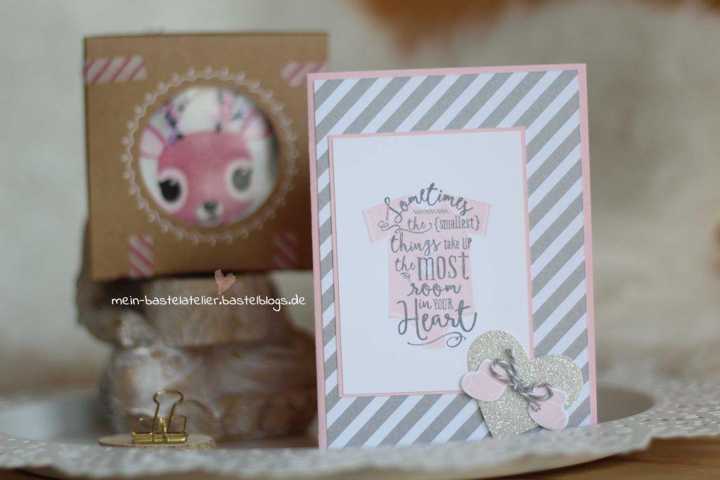 Babykarte zur Geburt Geschenk Set Stampin Up