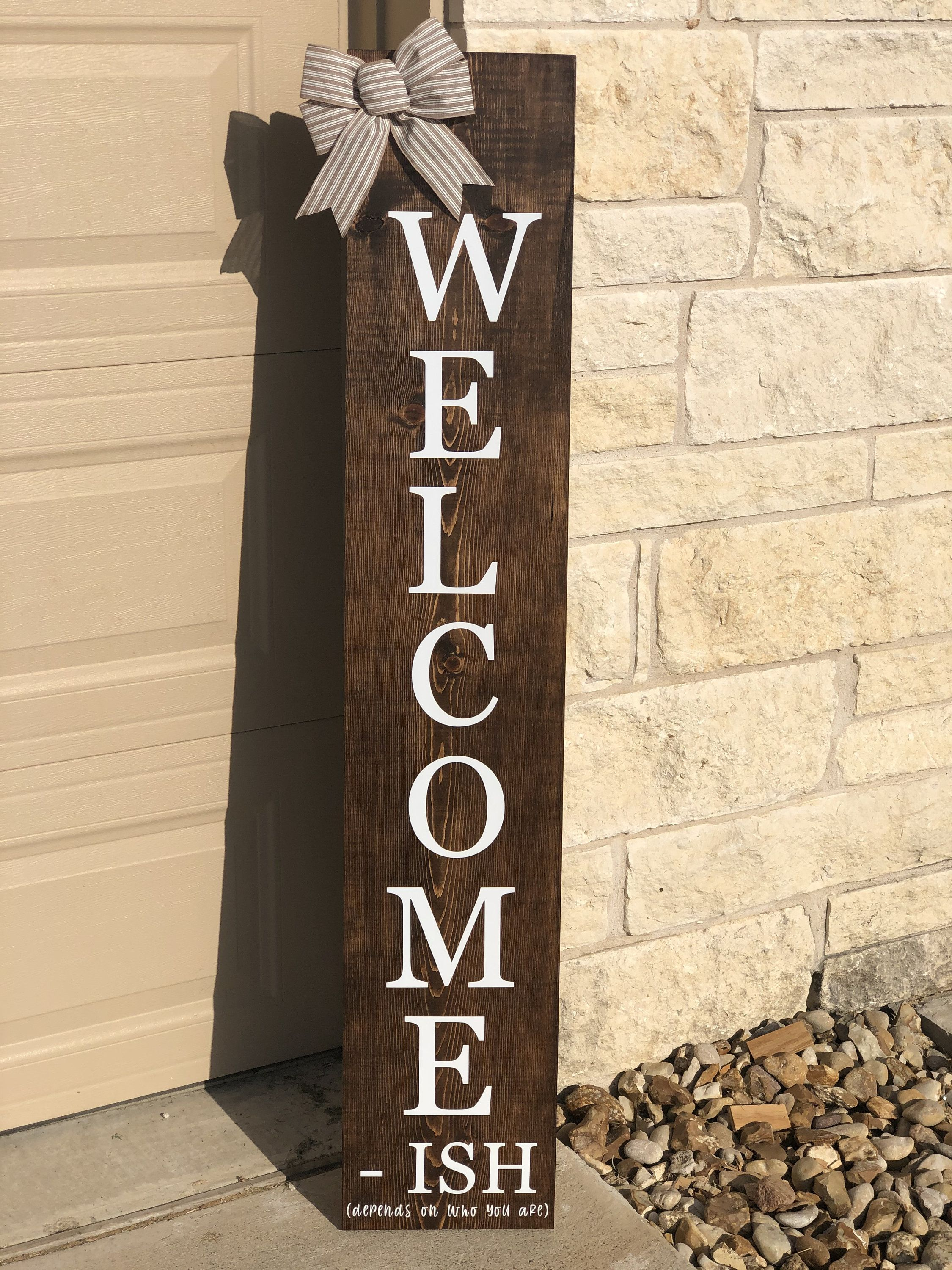 Welcome Sign Front Door Welcome Sign Welcome Sign For Front Porch Welcome Sign Front Door In 2020 Welcome Signs Front Door Porch Welcome Sign Funny Welcome Signs