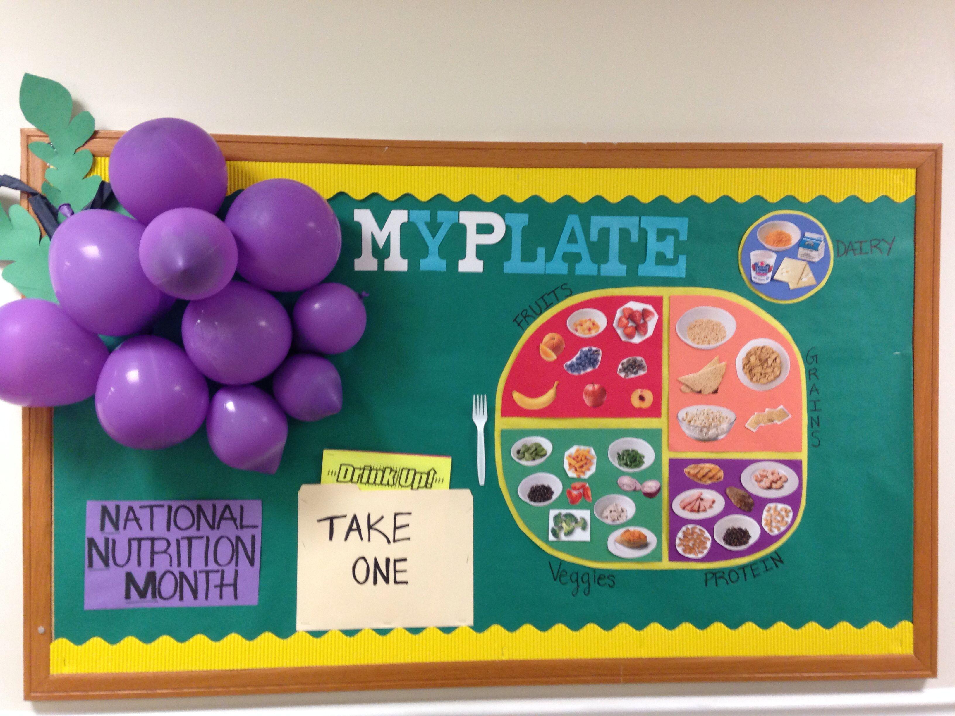 Classroom Bulletin Board Ideas Nutrition Month ~ National nutrition month bulletin board myplate ra