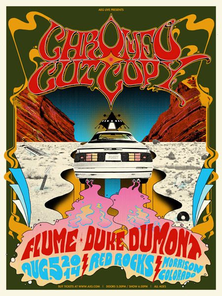 Chromeo Red Rocks Red Rock Omg Posters Red Rocks Concerts