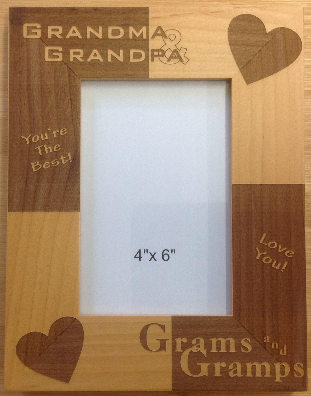 Engraved alder grandparents photo frame by MyBrandedCreations on ...