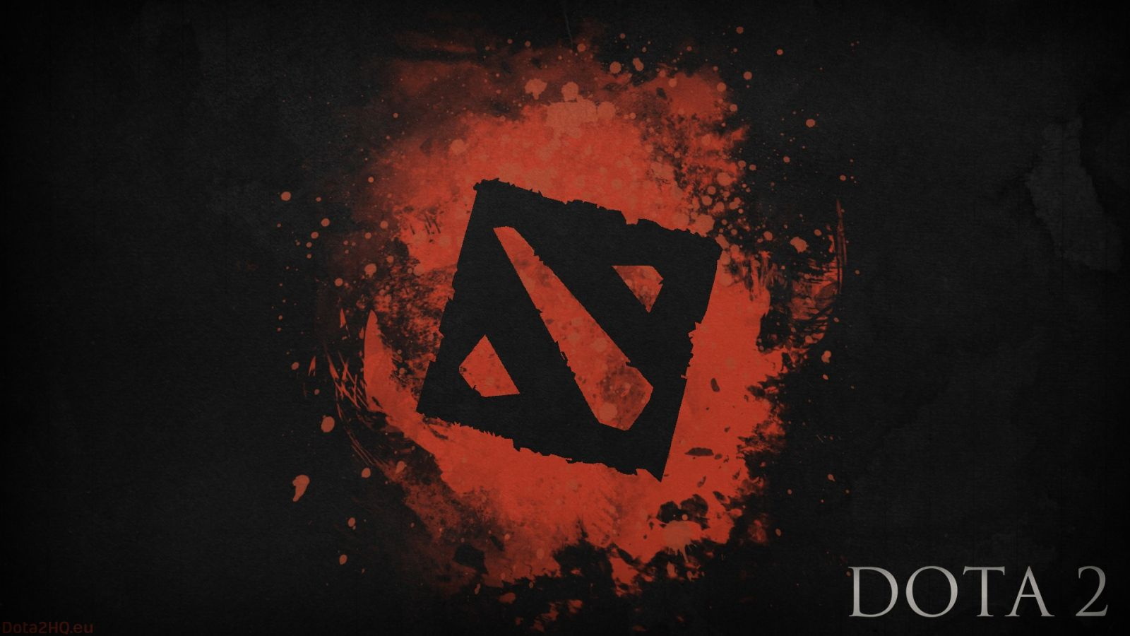 Download Wallpaper 1600x900 Dota 2, Black logo, Art