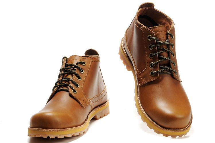 Timberland Leather Work Boots Men's-DarkOrange | Timb | Pinterest