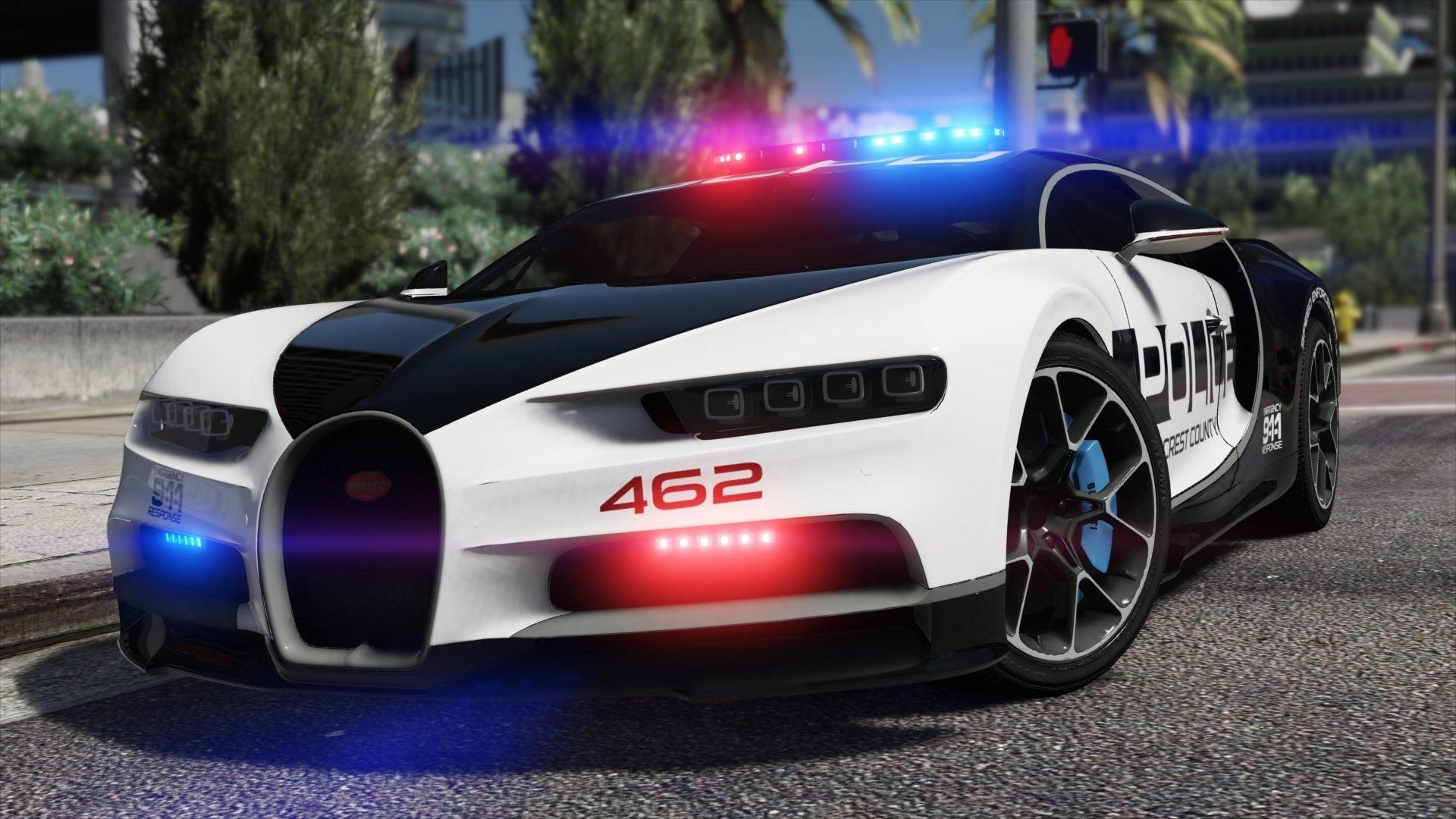 Add A Bugatti Chiron Of Need For Speed Hot Pursuit Police In Gta V Imagined By Me Or Replace Police Buffalo In 2020 Police Cars Super Car Bugatti Bugatti Chiron