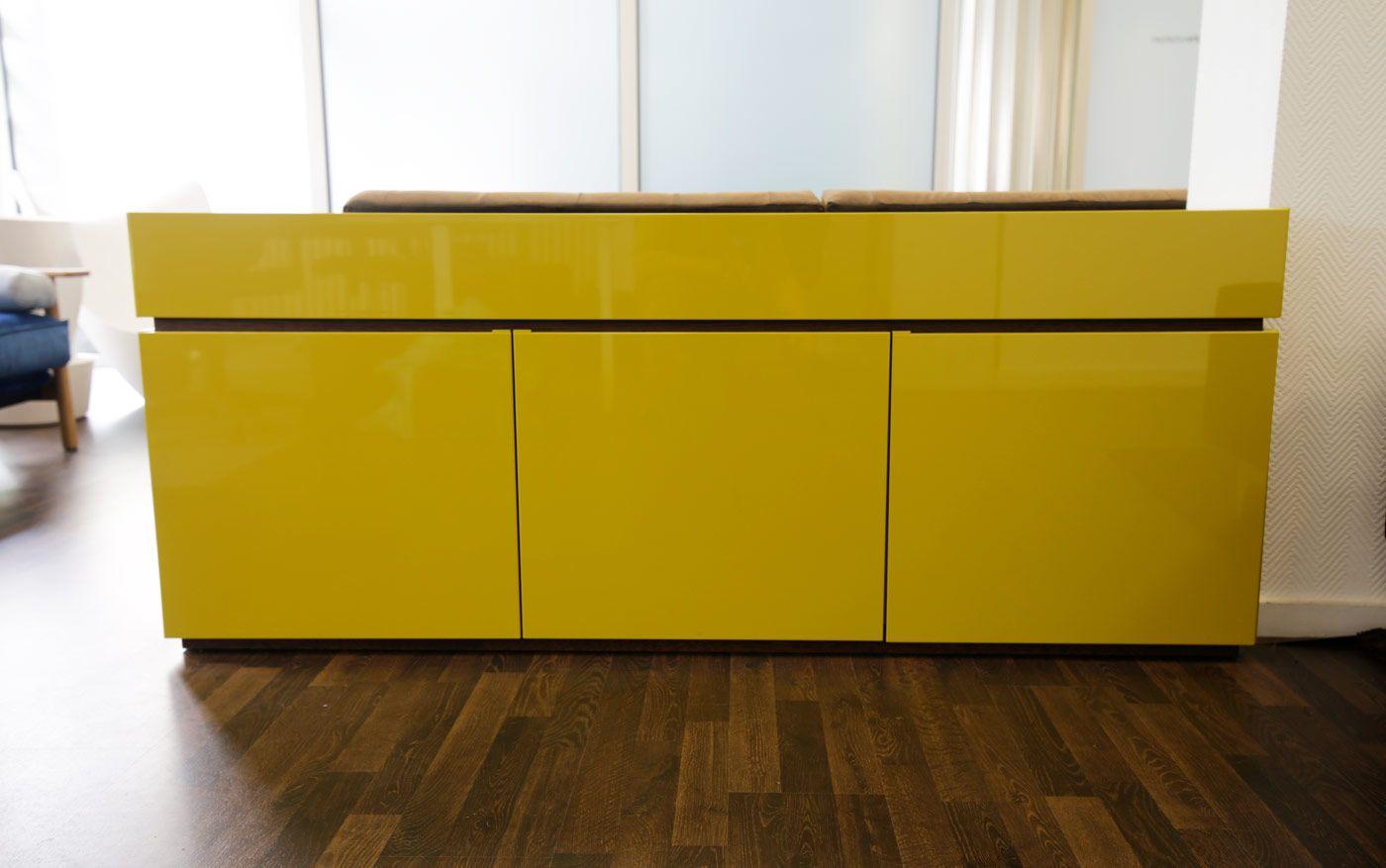 Auf Lager: Sideboard Cidori 115 in senfgelb - Möbel / Schränke ...