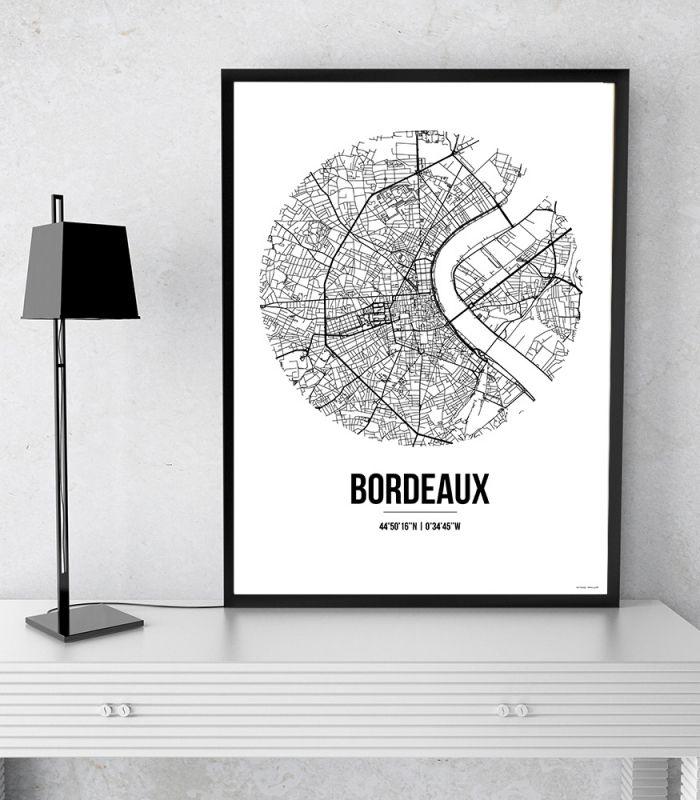 L'Affiche City Map Bordeaux Street Map Est Une Création Originale