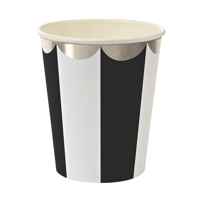 Black and White Stripe Party Cup by MeriMeri at www.theoriginalpartybagcompany.co.uk